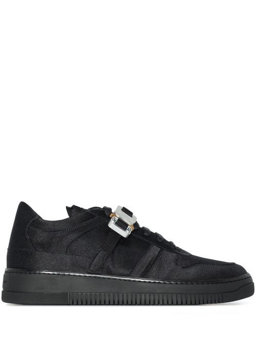 SATIN BUCKLE LOW TRAINER