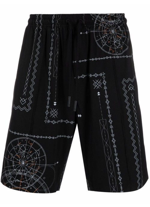 ALL OVER ASTRAL SWEATSHORTS
