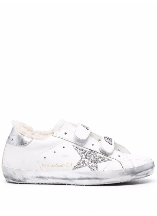 OLD SCHOOL LEATHER UPPER GLITTER STAR SHEARLING LINING SPARKLE