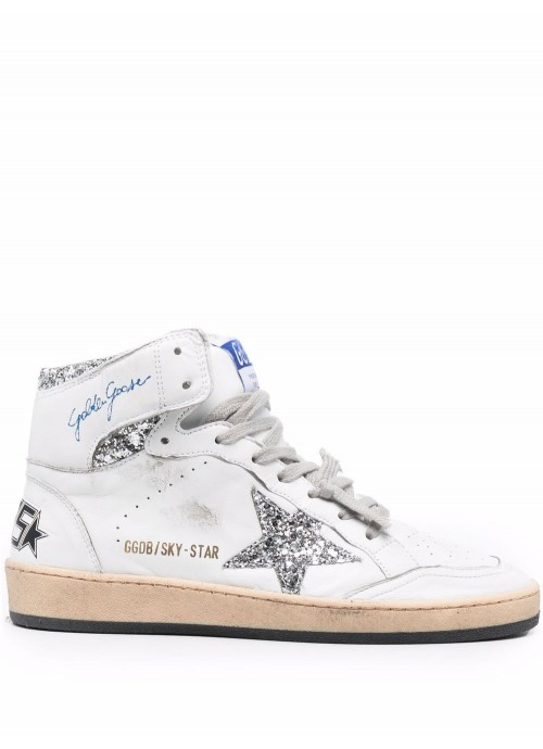 SKY STAR NAPPA UPPER WITH SERIGRAPH GLITTER STAR AND ANKLE